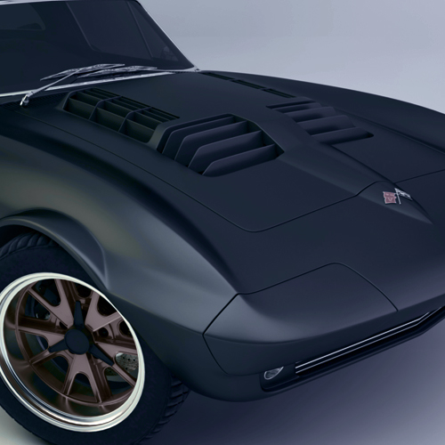 1:18 1964 CHEVROLET CORVETTE GRAND SPORT ROADSTER (MATTE BLACK VERSION)